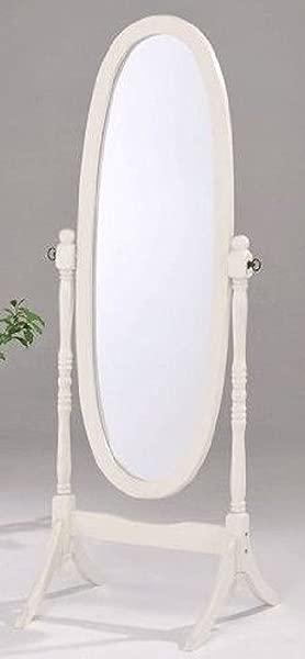 Legacy Decor Swivel Full Length Wood Cheval Floor Mirror White New