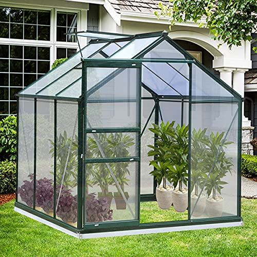 Greenhouse for Outdoors, 6 x 6 x 7 FT Green House...