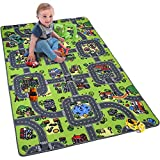 Softlife Kids Carpet Play Mat Rug Large 48' x 70' City Life Great for Playing with Cars Children Area Rugs for Bedroom Playroom Nursery
