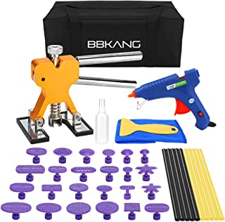 BBKANG 41pcs Paintless Dent Repair Removal Remover Tools Kit Golden Dent Lifter 24 Pro Purple Glue Tabs + Hot Glue Gun Car Auto Body Hail Dent Remover Set
