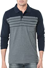 WEXFORD Men's Cotton Full Sleeves Polo T-Shirt (Grey)