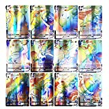 Urhause Juego de Tarjetas Poke, 60 Tarjetas Poke Que Incluyen 50 Tarjetas Vmax Poke + 1 Tarjeta Oranguru Poke + 9...