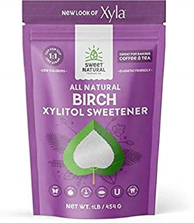 Emerald Forest Xylitol USA Xyla All Natural Sugar Free Sweetener, 1 Pound