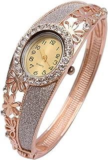 Shining Diva Fashion 18k Rose Gold Bangle Watch Bracelet for Girls and Women