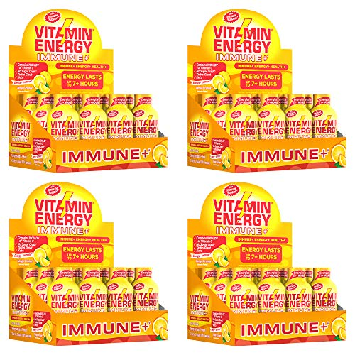 (Pack of 48) VitaminEnergy™ Immune Shot, Zero Butter Energy Shot, Dietary Supplements, Keto Friendly Energy, 0 Carbs Drink, Vitamin C, Vitamin D3 VitaminEnergy Tango Orange, 1.93 Fl. Oz., Up to 7+ Hours of Energy