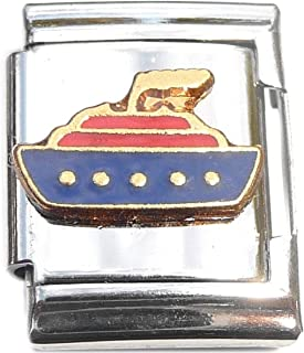 Cruise Ship 13mm Italian Charm (not compatible with smaller 9mm charms)