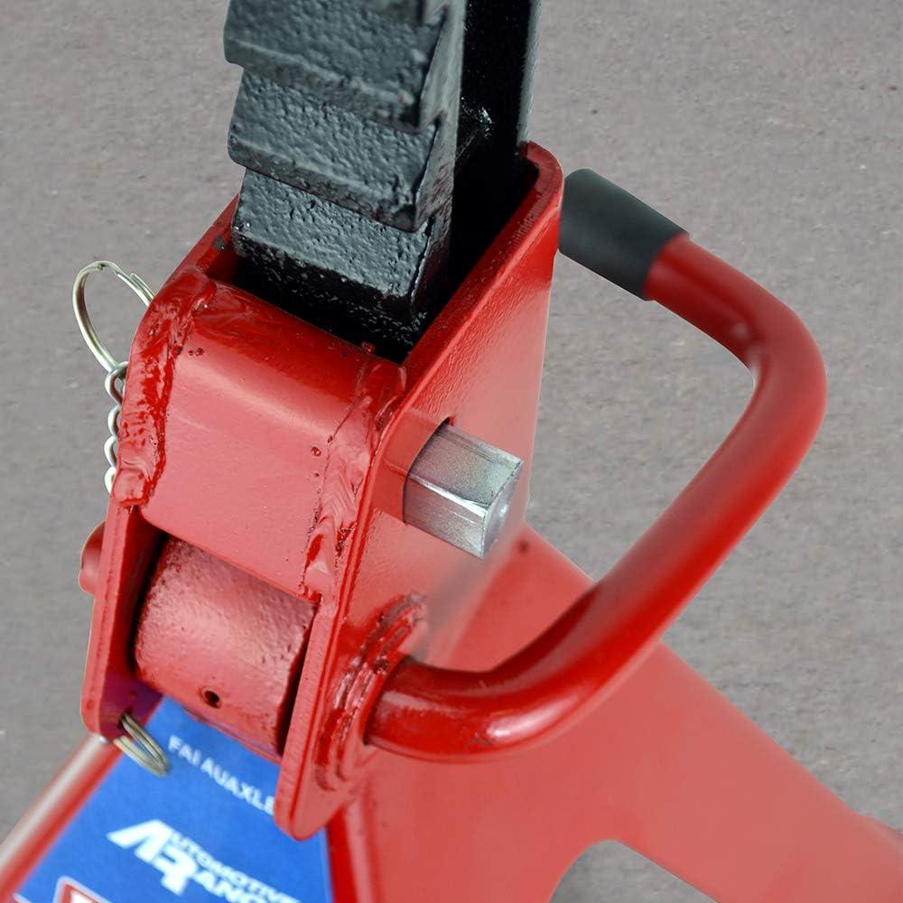 FAITHFULL FAIAUAXLE3 3000Kg Axle Stands Quick Release Ratchet Ajustment