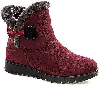 2019 Zapatos Invierno Mujer Botas de Nieve Casual Calzado Piel Forradas Calientes Planas Outdoor Boots Antideslizante Zapa...