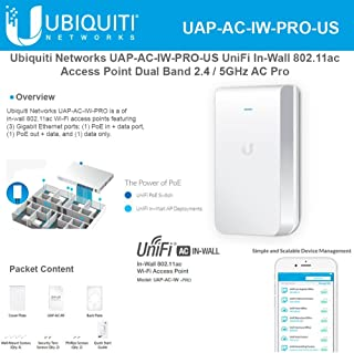 Access Point UniFi In-Wall Dual Band UAP-AC-IW-PRO-US 802.11ac Dual Band Access Point 2 / 5GHz