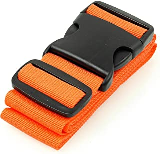 BlueCosto Luggage Strap Suitcase Straps Belts Travel Accessories, 1-Pack, Orange