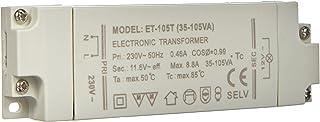 Transmedia LT2-2L Halogeen transformator 230/12V/35-105W, bescherming tegen overbelasting, temperatuurbeveiliging, niet di...