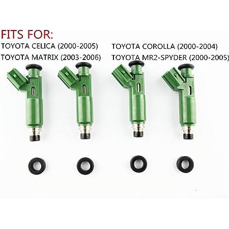 2000-2002 Prizm 4PCS Fuel Injector Fit for 2000-2005 Celica MR2 Spyder 2003-2006 Matrix 2003-2006 Pontiac Vibe Replace 23250-0D040 23250-22040 2000-2004 Corolla