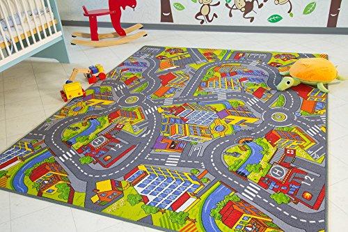 Kinder Teppich City - Straßen und Spiel Teppich, 160x200 cm