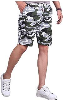 [アンリ] 迷彩 ショートパンツ 膝丈 涼感 通気性 楽ちん カジュアル アクティブ 半ズボン ボトムス M 〜 3XL メンズ