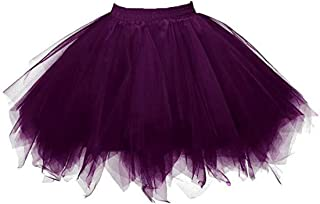 BIFINI Adult Women 80's Tutu Skirt Layered Tulle Petticoat Halloween Tutu