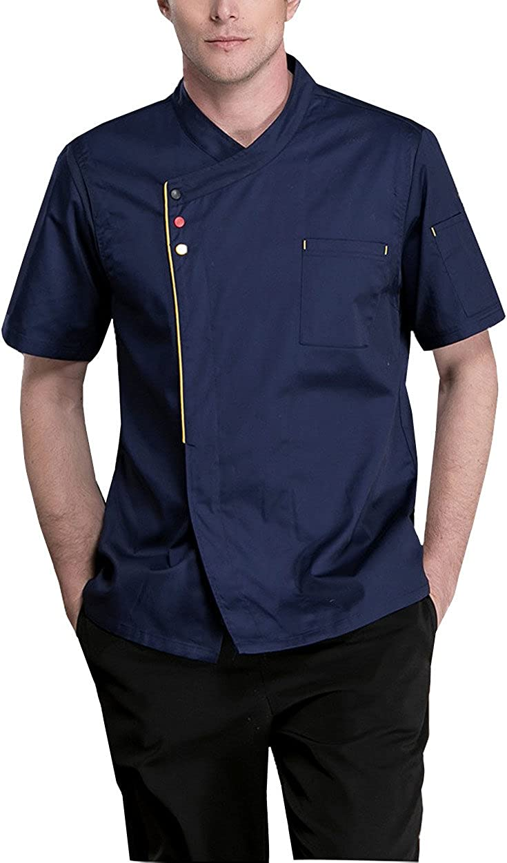Boupiun Chef Jackets Summer Coat Short Fashion In a popularity Cool Sleeve National uniform free shipping