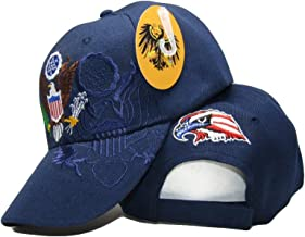 AES United States President Presidential Seal Dark Blue Shadow Embroidered Cap Hat