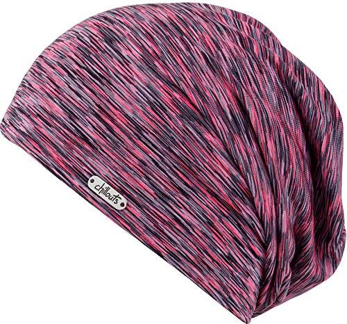 Helsinki Oversize Beanie Long Beaniemütze Mütze Indoormütze Strickmütze Chillouts Beanie Strickmütze (One Size - pink)