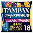 Tampax Compak Pearl Active Fresh Tampons with Applicator x 18–Pack of 2