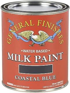 General Finishes QCB Water Based Milk Paint, 1 Quart, Coastal Blue
