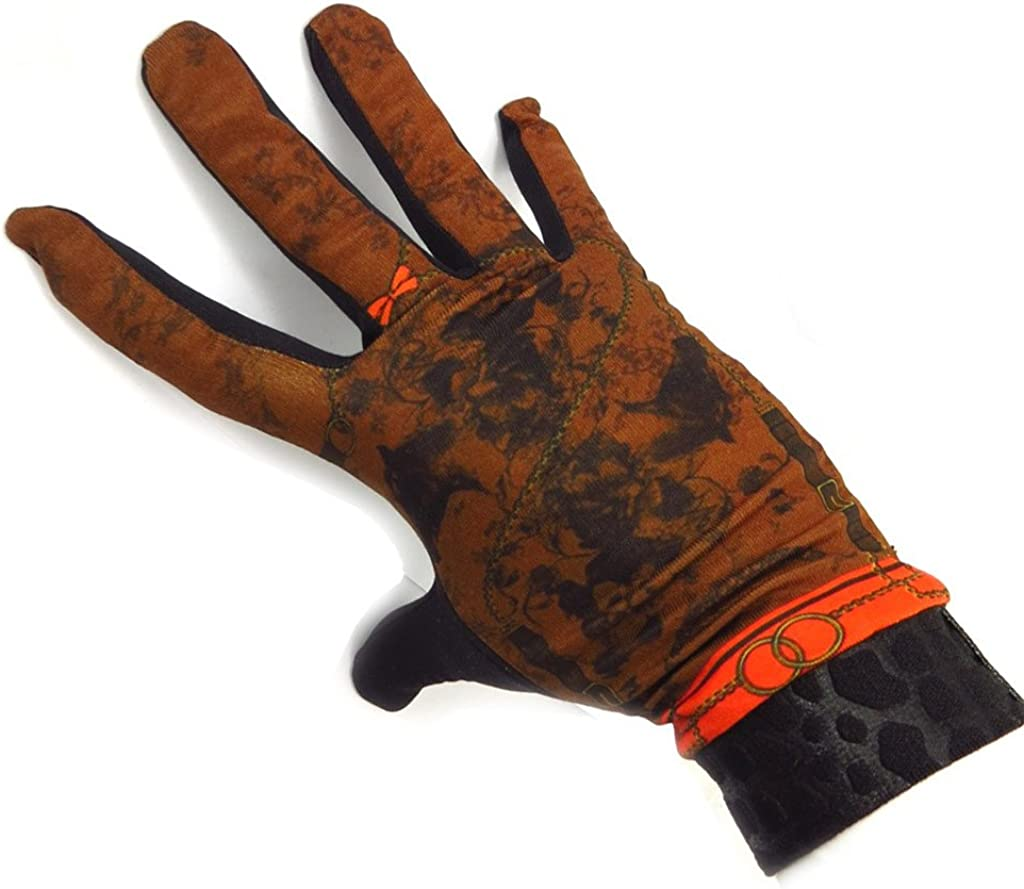 french touch' gloves 'Equida' black brown.