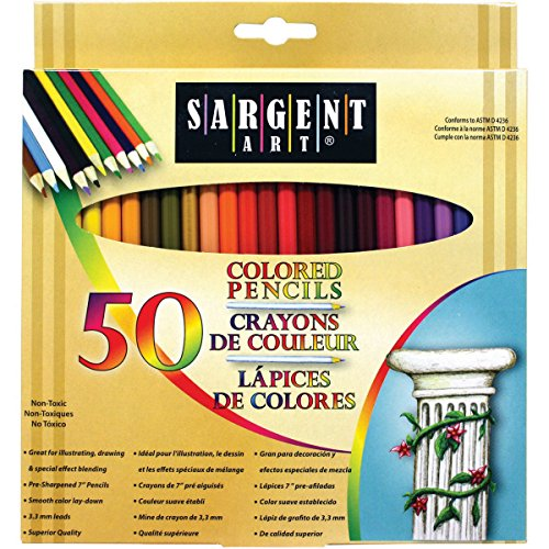 Sargent Art Premium Coloring Pencils, Pack of 50 Assorted Colors,...