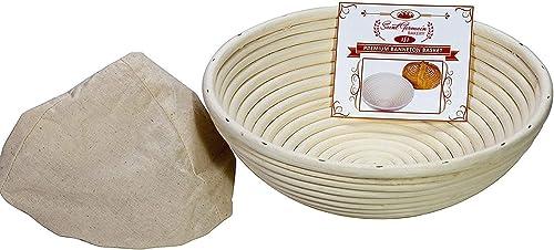 popular Saint wholesale Germain discount Bakery Premium Round Bread Banneton Basket with Liner 8 inch online