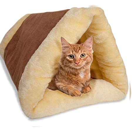 Petslover Cat Bed Cave House Bed Best For Indoor Cats Houses Heated Kitten Warm Pet Self