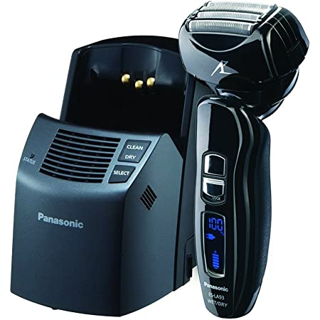 Panasonic ES-LA93-K, Arc4 Electric Razor, Men's 4-Blade and Dual Motor, Premium Automatic Clean & Charge Station Included, Wet or Dry Operation