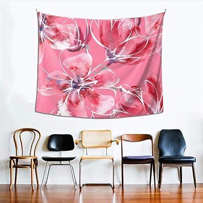 Tapiz de pared completa Hermosa orquídea Floración Vida Decoración de la pared 60x51 pulgadas (152x130cm) Colgante de pared Arte Decoración del hogar Poliéster para sala de estar Dormitorio Dormitori