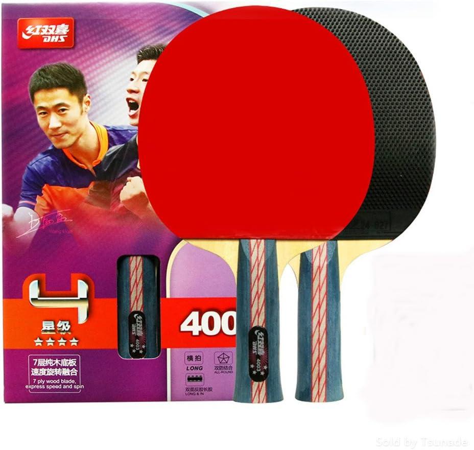 DHS Ping Pong Table Tennis Racket Paddle Bat 4 Star Shakehand Long Handle 4003 Wish LANDSON