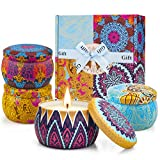 Candles Gifts for Women Candle for Home Scented Soy Wax Candles Set Aromatherapy for Her Mom Girls Birthday Friend Wife Sister Mothers Day Gift from Daughter Son 4.4OZ 4 Pack