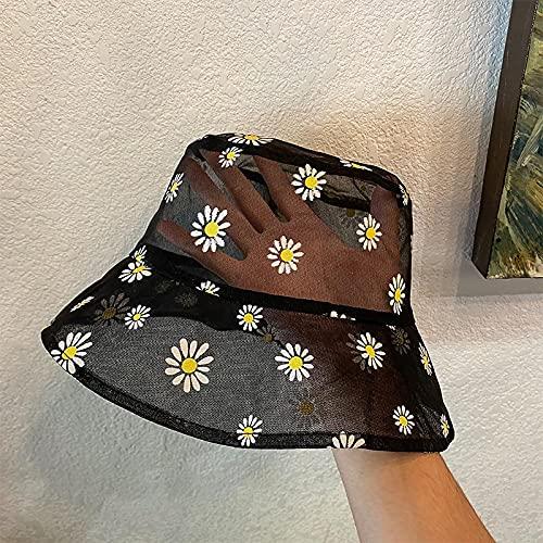 Margaritas Bordado Sombrero De Cubo Transparente Panamá Mujeres Encaje Flor Playa Sombreros High Top Snapback Moda Daisy Sun Cap Verano C