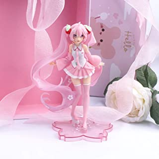 Wzxpoor 15cm Anime Miku Hatsune Pink Sakura Ghost Miku PVC Action Figures Girls Model Toys Collecting New Year Gifts for G...