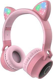 Coloridos auriculares inalámbricos Bluetooth para niños, LED con micrófono, tiempo de reproducción de 12 horas, sonido est...