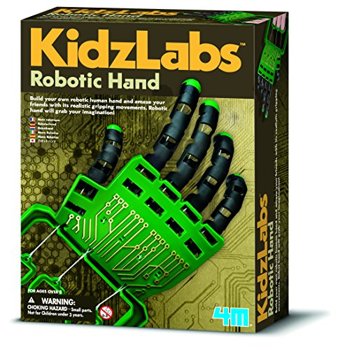 Essential present gift Robotic Hand Make Robotics & Robots Fun Activity Kit Suitable for Ages 8+ For boys girls boy girl Christmas Xmas Birthday Party Stocking Filler