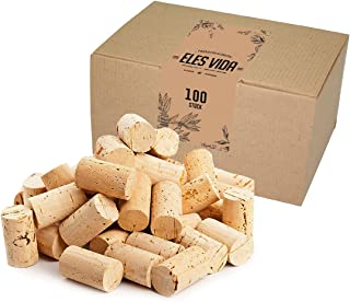 ELES VIDA Bouchons à vin - pour décorer, embellir et bricoler - Bouchons en liège naturels pour Les Enfants, 24 mm x 45 mm...