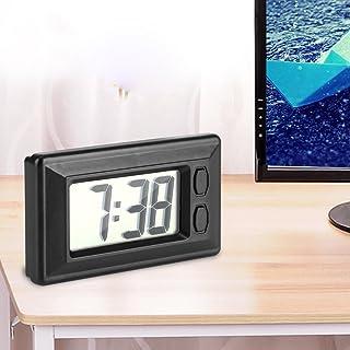 N//V Nero Plastica Di Piccole Dimensioni Digitale LCD Tavolo Auto Dashboard Scrivania Data Ora Calendario Piccolo Orologio Con Funzione Calendario TS-CD92