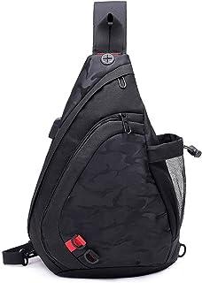 Herren Schultertasche Brusttasche Crossbody Crossbag Umhängetaschen Mit USB Port