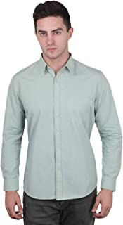 Eprise Trends Dyed Pastel Silver Mist Men's Shirt with Hidden Button Down Collar Available in 4 Sizes (S to XL)