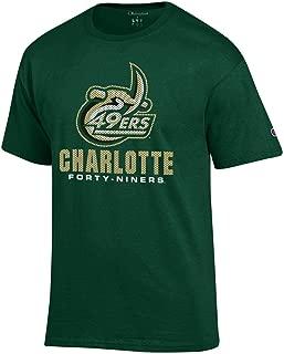 UNC Charlotte 49ers Green Mesh Pattern Logo T-Shirt