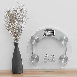 UYZ Báscula Digital electrónica de Vidrio Templado, báscula Antideslizante para baño, báscula Inteligente, Pantalla LCD, báscula Digital Duradera