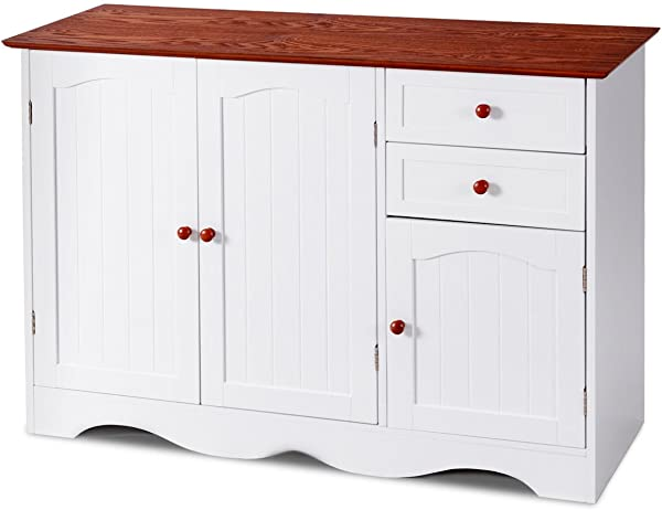 Diamondgift Console Table Kitchen Sideboardd Buffet Storage Cabinet Home Furni W 2 Drawers