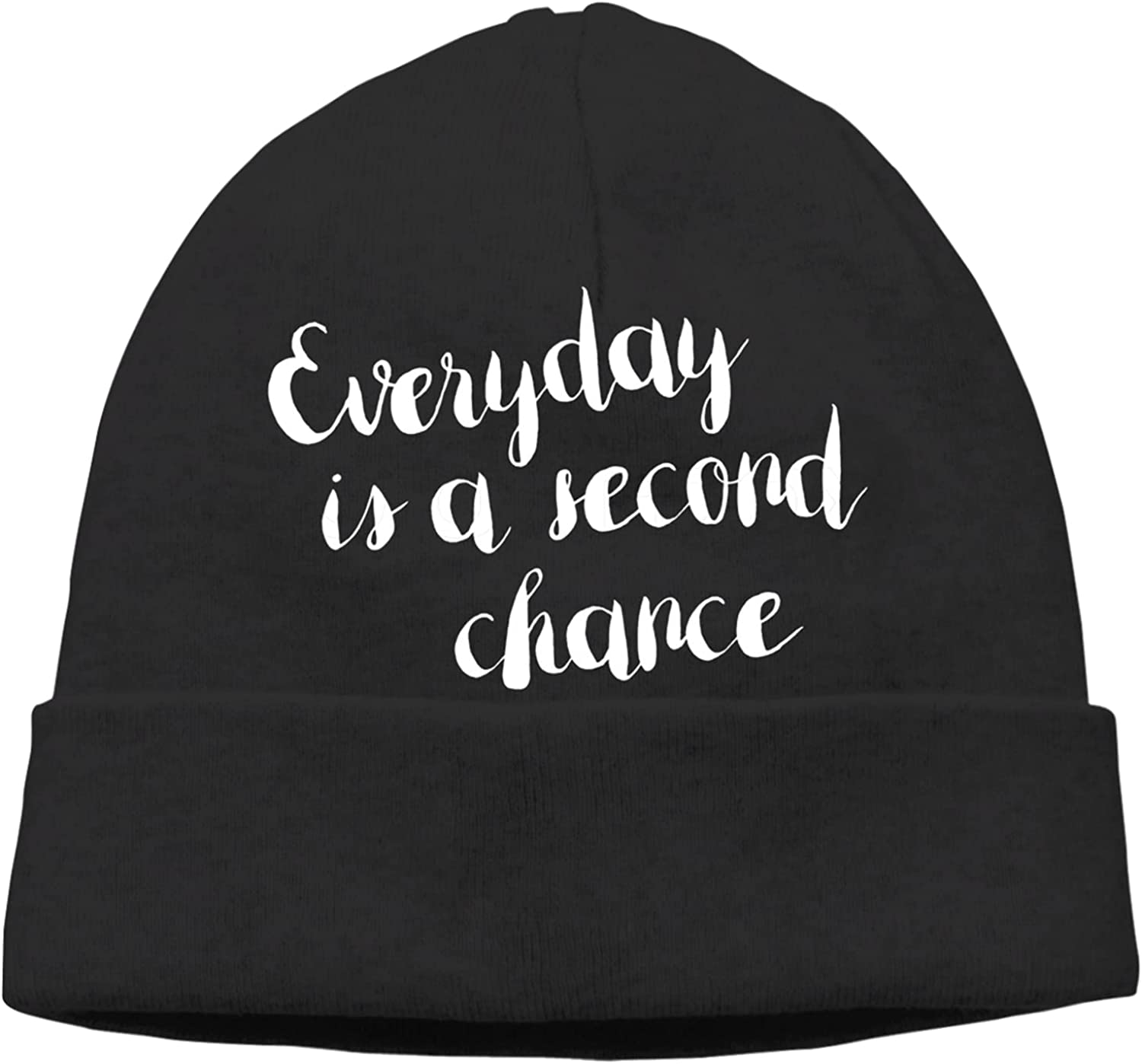 Everyday is A Second Challenge the lowest price of Japan Chance Slogan Selling V Unisex Warm Beanie Cap Hats