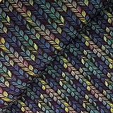 Glünz Softshell Zopfstrick blau - Stoff - Meterware - 0,5m