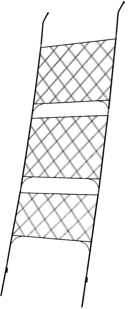 フェンス アイアンフェンス グリーンフェンス グリーンカーテン 立てかけ 高さ245.5cm 庭 ベランダ ガーデニング 枠 柵 仕切おしゃれ 北欧 (単品)