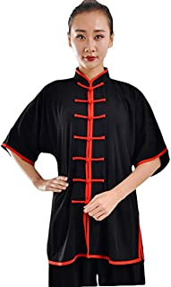 WUYIN Unisex Four Season Tai Chi Uniform Men Kung fu Taiji Uniform Chi kung Uniform (Cotton Silk or Pleuche)