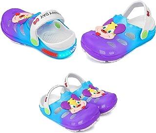 Fashion shoes Unisex Navy Blue PU LED Clogs