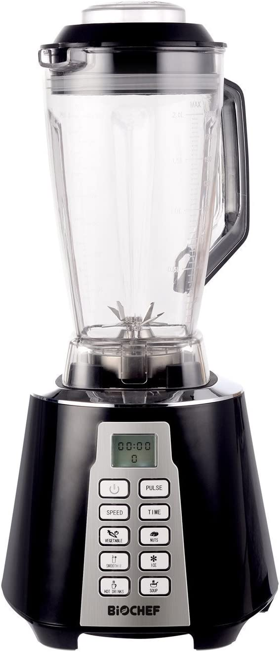Bio Chef Nova – Batidora de Vaso   Blender   Batidora Americana de Vaso   1600W   28.000RPM   BPA Free   6 Programas (Negro)
