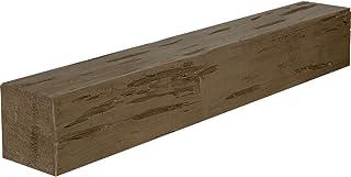 """Ekena Millwork MANUPC04X08X72PW Pecky Cypress Faux Wood Fireplace Mantel, 4""""H x 8""""D x 72""""W, Persian Walnut"""